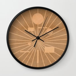Star rising with geometrical shapes Wall Clock