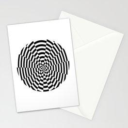 Monochrome Daze Black and White Circle Stationery Cards