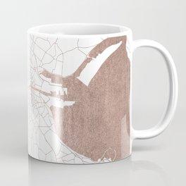 Dublin White on Rosegold Street Map II Coffee Mug