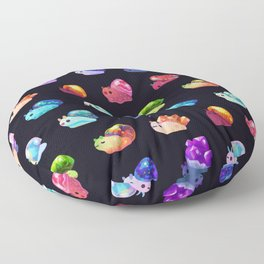 Jewel Snail Floor Pillow