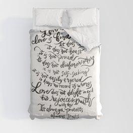 Love is Patient, Love is Kind -1 Corinthians 13:4-8 / BW Comforters