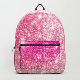 Perfect Pink Ombre Galaxy Sparkle Backpack