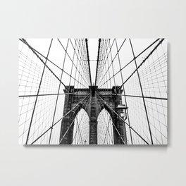 Brooklyn Bridge Web Metal Print