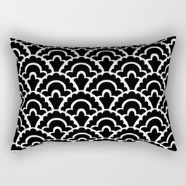 Fan Pattern Black and White 116 Rectangular Pillow