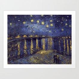 Vincent Van Gogh Starry Night Over The Rhone Art Print