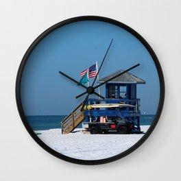 Siesta Key Lifeguard Station Wall Clock