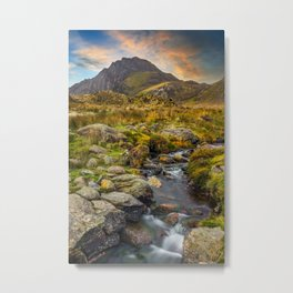 Tryfan Mountain Snowdonia Wales Metal Print
