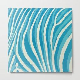 Artistic Zebra Pattern #1 Metal Print