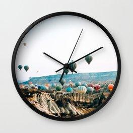 Hot Air Rises | Cappadocia, Turkey Wall Clock