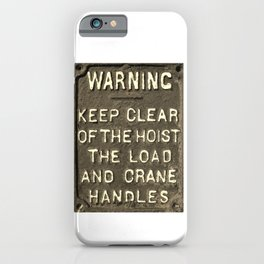 VICTORIAN WARNING SIGN KEEP CLEAR IN SEPIA iPhone Case