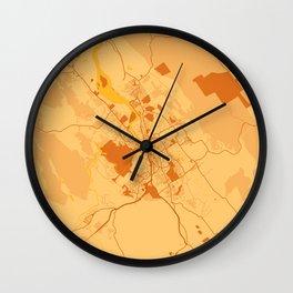Launceston - Australia Sunset City Map Wall Clock