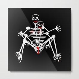 Sex Skeleton Metal Print