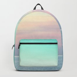 Pastel retro Malibu VII calm ocean & sky Backpack
