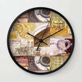Afternoon Coffee Wall Clock