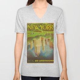 1952 Go Greyhound New York City Central Park Poster Unisex V-Neck
