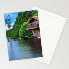 Smooth as Glass Lake and Boathouse Stationery Cards