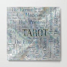Tarot Major Arcana Word Art  on Pearl Metal Print