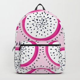 Dragon Fruit Pattern on Pink Backpack