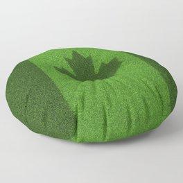 Grass flag Canada / 3D render of Canadian flag grown from grass Floor Pillow