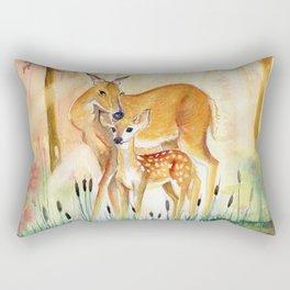 Mom and Little Deer Rectangular Pillow