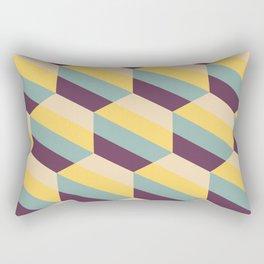 Striped Hexagons Rectangular Pillow