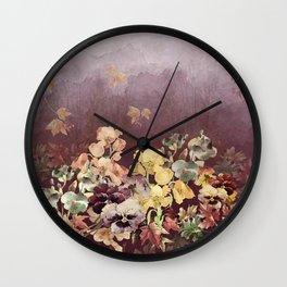 Falling Into Fall Wall Clock