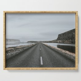 Empty Road - A Love Story Serving Tray