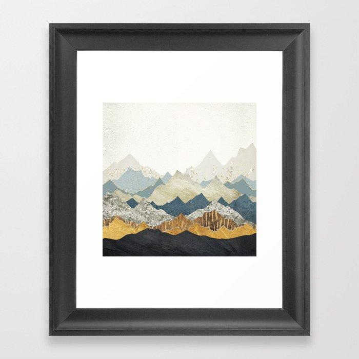 Distant Peaks Gerahmter Kunstdruck