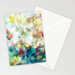 Spring Abstract Painting Stationery Cards