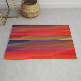 Seascape in Shades of Red and Purple Rug
