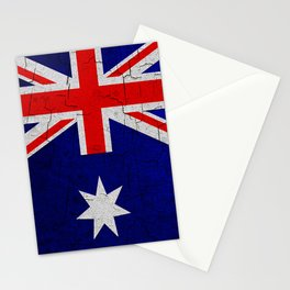 Cracked Australia flag Stationery Cards