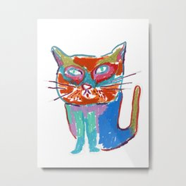 A seriously cool cat Metal Print