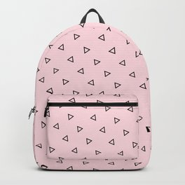 Pastel Pink Background seamless Triangles Pattern Backpack