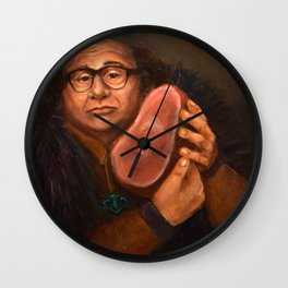Danny DeVito with his beloved ham Wall Clock