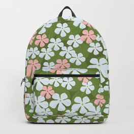 Tiny Little Daisies - Mid Century Inspired Flower Pattern Backpack