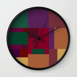 Jewel tones abstract geometric II Wall Clock