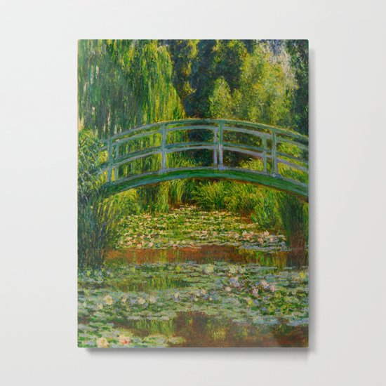 Claude Monet Impressionist Landscape Oil Painting-The Japanese Footbridge and the Water Lily Pool by claudemonet1994