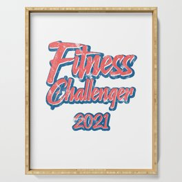 Fitness Challenger Gym Challenge 2021 Serving Tray