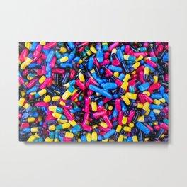 Happy Pills Metal Print