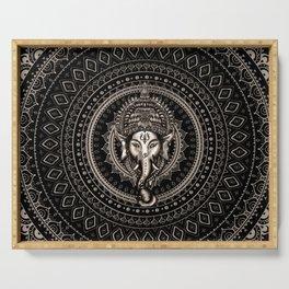 Lord Ganesha - Sepia Black Serving Tray