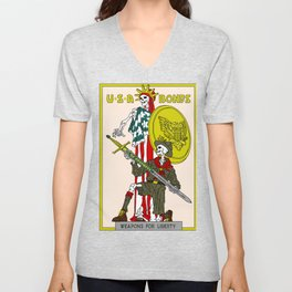 Weapons For Liberty (Norman Rockwell) Unisex V-Neck