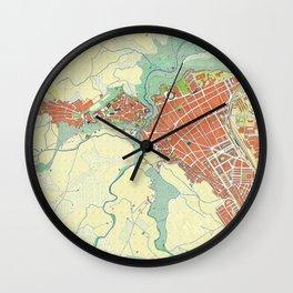 Ronda city map classic Wall Clock
