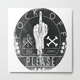 Middle Finger BBC Metal Print