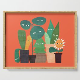 The plants are watching (paranoidos maximucho) Serving Tray