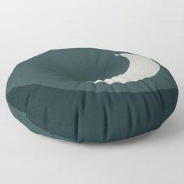 Moonrise Minimalism - Jade Floor Pillow