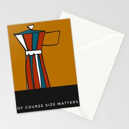 "Beloved moka- with caption ""Of course size matters"" Stationery Cards"