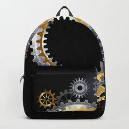 Steampunk Steel Gears Backpack