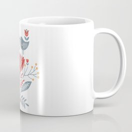 Scandinavian Folk Art - Birds & Flowers  Coffee Mug