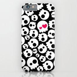 A skull in love iPhone Case