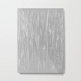 Grey Line Art Flow Metal Print